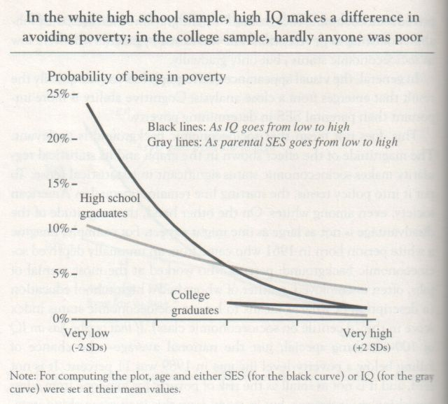 The Bell Curve, 1994, Herrnstein and Murray (graph p. 136)