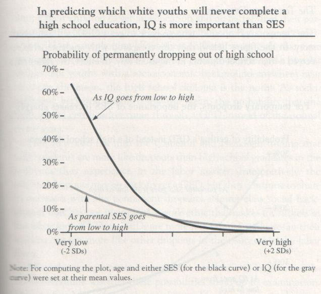 The Bell Curve, 1994, Herrnstein and Murray (graph p. 149)