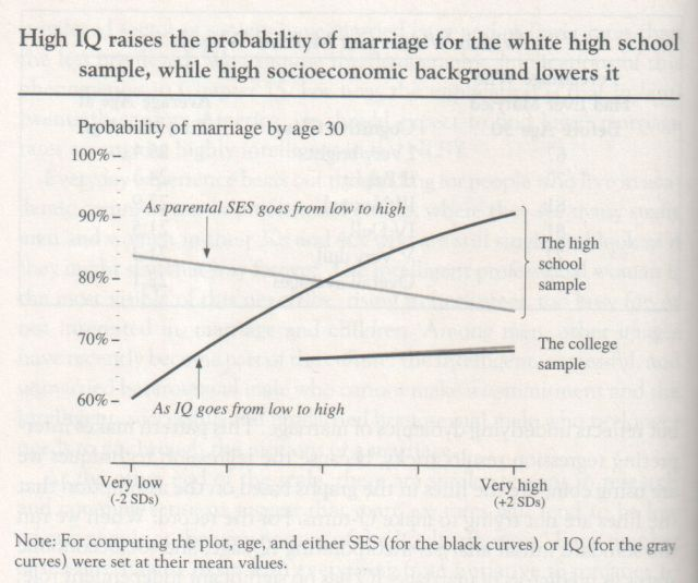 The Bell Curve, 1994, Herrnstein and Murray (graph p. 172)