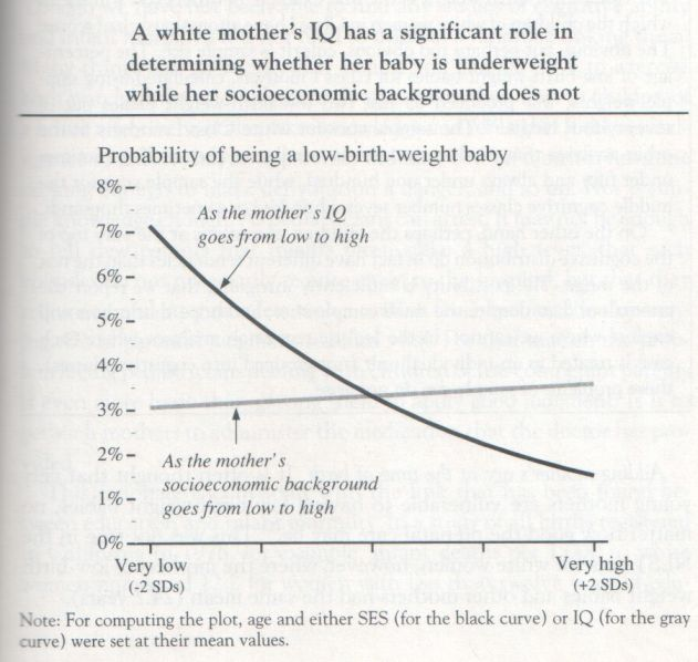The Bell Curve, 1994, Herrnstein and Murray (graph p. 215)