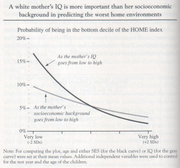 The Bell Curve, 1994, Herrnstein and Murray (graph p. 222)